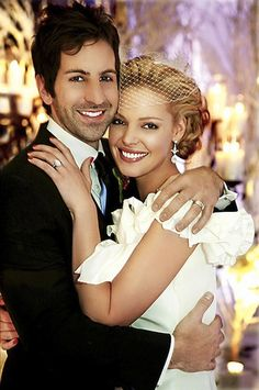 Celebrity Wedding Wednesday--Katherine Heigl's birdcage veil | Happily Ever Borrowed