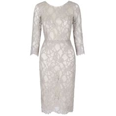 Oyster Lace Shift Tailored Designer Shift Dress  Suzannah Dress ($1,350) ❤ liked on Polyvore featuring dresses, scoop neck dress, white lace dress, scoop neckline dress, tailored dresses and shift dress