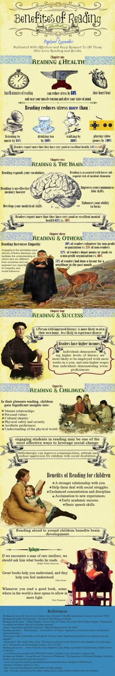 "The Benefits of Reading Infographic #reading ""books www.OneMorePress.com"
