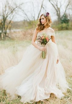 This tulle wedding gown is from Etsy!  Really hoping the shop owner gets some more creations online soon!