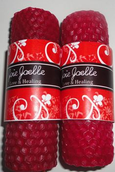 Mini Love and Healing Red & White Spell Candle Set by Joellechan, $15.00