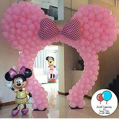 Ideas baby shower ideas for boys disney minnie mouse Minnie Mouse Party Decorations, Minnie Mouse Birthday Decorations, Minnie Mouse Balloons, Minnie Mouse First Birthday, Mickey Party, Minne, Shower Ideas, Parties, Baby Shower