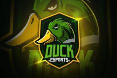 Duck Esports – Mascot & Esport Logo by aqrstudio on Envato Elements - Belezza,animales , salud animal y mas Coreldraw, Youtube Banner, Cores Rgb, Logo Esport, Envato Elements, E Sport, Branding, Free Logo, Print Templates