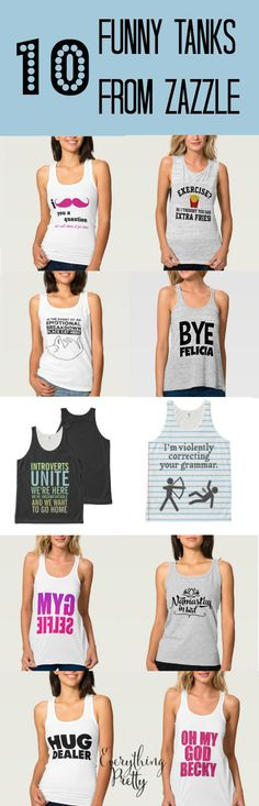 The Best Snarky & Funny Tank Tops for Women | Everything Pretty