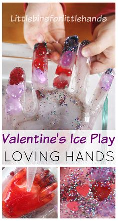 Valentines Frozen Hands Ice Melting Science Activity