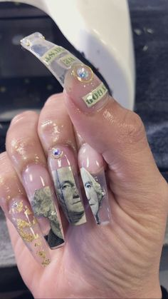 - Gucci Nails - Ideas of Gucci Nails - ⱤⱫ Ɽ ⱧØɄɆ Claw Nails, Aycrlic Nails, Bling Nails, Manicure, Nail Swag, Gorgeous Nails, Pretty Nails, Gucci Nails, Nagel Bling
