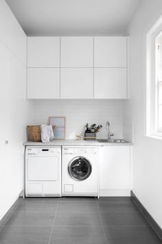 Modern muse - Laundry inspiration and ideas Laundry Room Layouts, Laundry Room Remodel, Small Laundry, Laundry In Bathroom, Bunnings Laundry, Kaboodle Kitchen Bunnings, Small Single Bed, Laundry Room Inspiration, Modern Muse
