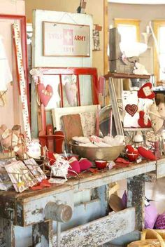 Shabby Chic Valentine's Day Display