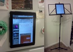 Do-it-yourself instructions for making a magnetic iPad/tablet case that can mount on a metal music stand.