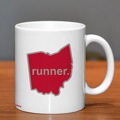 Ohio Runner Ceramic Mug - Show off your pride for Ohio with this great Ohio Runner Ceramic Coffee Mug.