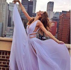 dress ball gown dress gisele bündchen lavender dress long dress gorgeous purple…