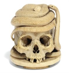 A GERMAN IVORY MEMENTO MORI   19TH CENTURY Art Curator & Art Adviser. I am targeting the most exceptional art! See Catalog @ http://www.BusaccaGallery.com
