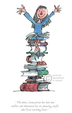 How can you not love Quentin Blake?! Matilda Books By Quentin Blake/Roald Dahl - Arthouse Gallery