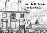 Portobello market  an a3 etching by Alexandra Rolfe