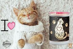Scentsy I love Cats warmer!  Wickless safe candle wax burner.  home decor