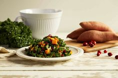 This simple kale salad recipe delivers big on flavor. Steamed sweet potatoes, cranberries, and cashews bring an array of colors and textures. The...