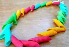 Summer Activities for Preschoolers - Fun Jewellery With Macaroni