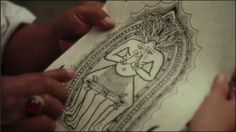 The drawing that Ketut Liyer gave to Liz Gilbert in eat pray love