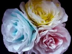 ▶ PAPER FLOWERS, How to make ELEGANT PAPER ROSE, from coffee filters - YouTube