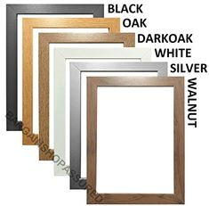 MODERN STYLE SOLID WOODEN EFFECT PICTURE FRAMES PHOTO FRAMES POSTER FRAMES READY TO HANG OR TO STAND (50cm x 70cm, BLACK)
