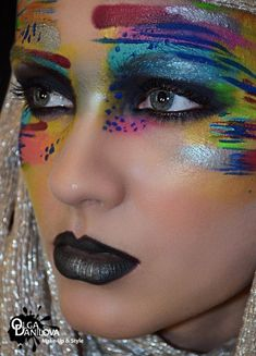 By olga danilova fantasy and avant garde makeup Maquillage Halloween, Halloween Makeup, Art Visage, Extreme Makeup, Fantasy Make Up, Make Up Inspiration, Foto Fashion, Fashion Art, High Fashion Makeup