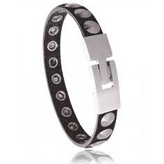 Bracelet noir acier Toscana - Murat Paris Trendy Bracelets, Paris, Steel, Rings, Black, Jewelry, Jewelry Branding, Male Jewelry, Montmartre Paris