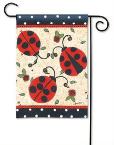 Lovely ladybugs garden flag