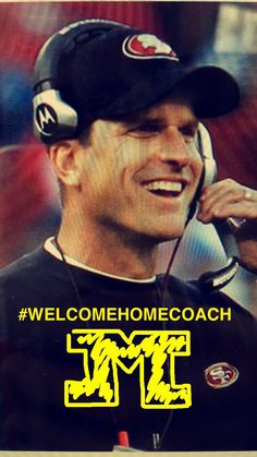 #WelcomeHomeCoach Harbaugh! U Of M Football, Detroit Lions Football, Michigan Wolverines Football, Detroit Sports, College Football Teams, Michigan Go Blue, University Of Michigan, My Buddy, Ann Arbor