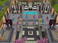 House 105 Wellness Centre level 2 #sims #simsfreeplay #simshousedesign