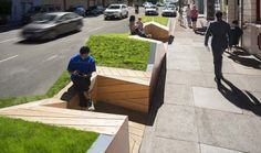 Raised bed with built-in bench