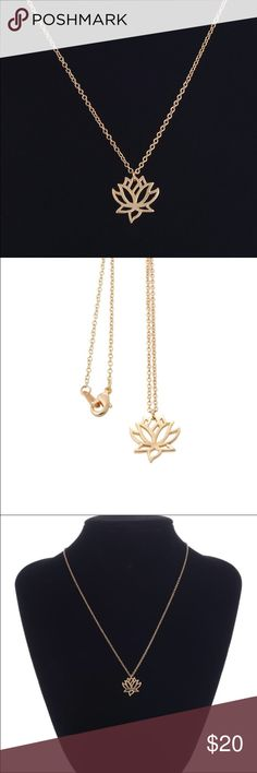 Sale Lotus flower  necklace 18k gold plated 18K Gold plated. Chain: 18 inches. Alex and Ani inspired. Jewelry Necklaces