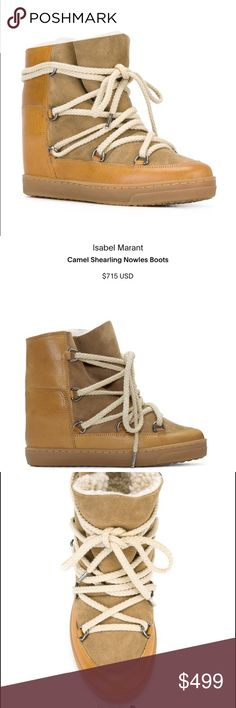 isabel marant Nowles boots Camel Shearling Nowles Boots. New one. Got it from sample sale. I've never wore it. Have box and dust bag full package. Isabel Marant Shoes Ankle Boots & Booties