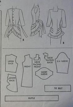 Vintage 40s Sewing Pattern. ..♥.Nims.♥