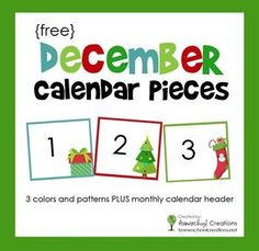 ... Calendar Pieces on Pinterest | Pocket charts, Calendar numbers and