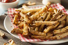 Jicama Fries are good for any phase of the Fast Metabolism Diet. Fast Metabolism Recipes, Fast Metabolism Diet, Metabolic Diet, Healthy Diet Recipes, Low Carb Recipes, Healthy Eating, Free Recipes, Vegetarian Recipes, Jicama Recipe