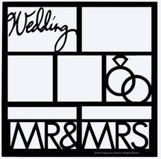 Mr & Mrs Scrapbook Overlay Wedding Scrapbook Pages, Scrapbook Frames, Scrapbook Titles, Scrapbooking Layouts, Scrapbook Paper, Digital Scrapbooking, Picture Templates, Wedding Stamps, Cut Image