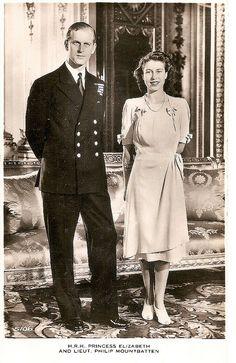 Reina de Inglaterra Isabel II su esposo Felipe de Edimburgo