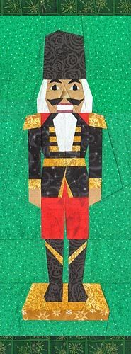 Nutcracker Paper Pieced Pattern at paperpanache.com