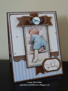 Paper Pleats and Ribbon Roses: Easy Baby Card - Graphic 45 Little Darlings