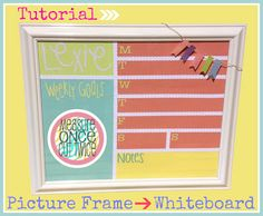 Measure Once, Cut Twice: DIY: Turning Picture Frames into Whiteboards