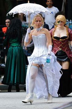 Steampunk Emma Frost and Husk from X-Men