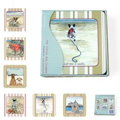 This Coastal Coaster Set features six of Anna Danielle's coastal designs. Dog Lover Gifts, Dog Lovers, New Home Gifts, Little Dogs, Coaster Set, Seaside, Coastal, Anna, Gallery Wall