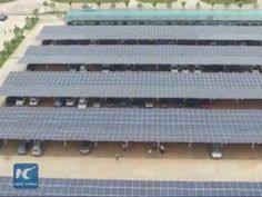 A mass of solar panels have been installed on the roof of a parking lot in east China's Jiangxi Province to generate electricity equivalent to the power consumption of about 5,000 households per year.