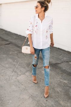 HelloFashionBlog: The Floral Button Up Top Under $100
