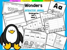 """This Kindergarten interactive journal is aligned to Common Core and to the McGraw Hill Wonders series for Unit 1-Week 1. This 13 page highly INTERACTIVE journal is ideal for teaching all of this week's skills in a powerful, student-friendly way!Complete Set Includes:Mini Anchor Chart/Activities for Letter """"Aa"""",and Genre (Fantasy)""""Aa"""" Handwriting PracticeHigh Frequency Words Rainbow WordsVocabulary ActivityCut and Paste Sentence BuildingCut and Paste Word Building (Short a Words)Key…"""