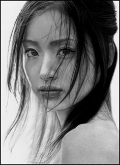 The Lover after Me by *Louisalings  Beautiful pencil portrait.