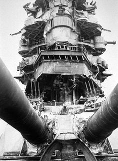 The battered superstructure of battleship Nagato after the Bikini Atoll atomic bomb test, Capital Ship, Imperial Japanese Navy, Armada, United States Navy, Navy Ships, Military Equipment, Fighter Aircraft, Pearl Harbor, Aircraft Carrier