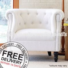 Tub-Chair-OCCASIONAL-ACCENT-ARM-FEATURE-LINEN-FABRIC-CHAIR-WHITE