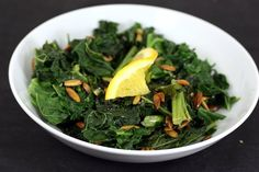 Orange-Scented Braised Kale with Pepitas by Elly Says Opa