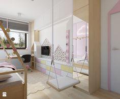 Józefosław - 100m2 - Duży pokój dziecka dla dziewczynki dla malucha, styl skandynawski - zdjęcie od TutajConcept